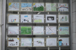 Photo by Wesley Remmer Pictures drawn by local elementary school students are on display at the Max Hale Center in downtown Bremerton as part of The Picture Project.